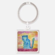 kittycat Square Keychain
