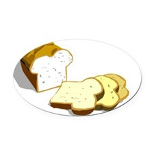 bread loaf Oval Car Magnet