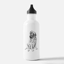 Mastiff Sitting Water Bottle