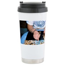 Quick and steady hands move woo Travel Mug