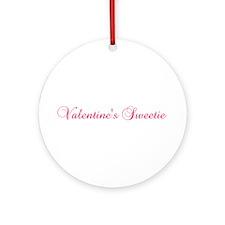 Valentine's Sweetie Ornament (Round)