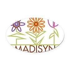 MADISYN-cute-flowers Oval Car Magnet