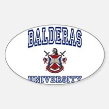 BALDERAS University Oval Decal