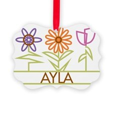 AYLA-cute-flowers Picture Ornament