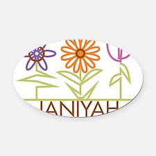 JANIYAH-cute-flowers Oval Car Magnet