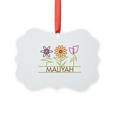 MALIYAH-cute-flowers Ornament