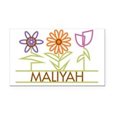 MALIYAH-cute-flowers Rectangle Car Magnet