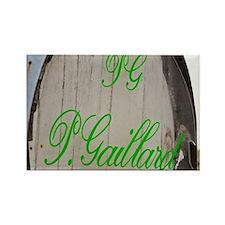 Sign on an old barrel welcoming v Rectangle Magnet