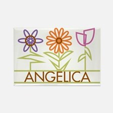 ANGELICA-cute-flowers Rectangle Magnet