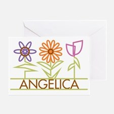 ANGELICA-cute-flowers Greeting Card
