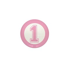 Pink #1 Mini Button (100 pack)