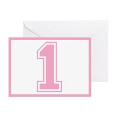 Pink #1 Blank Cards (6)