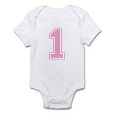 Pink #1 Infant Bodysuit