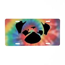 Cutie-Clutch-Tie-Dye Aluminum License Plate