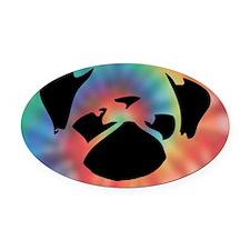 Cutie-Clutch-Tie-Dye Oval Car Magnet
