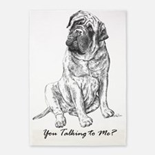 Mastiff You Talking To Me 5'x7'Area Rug