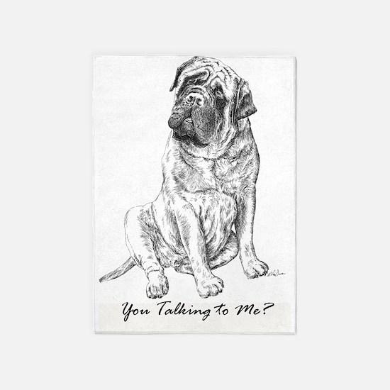 Mastiff You Talking To Me 5'x7'Area Rug