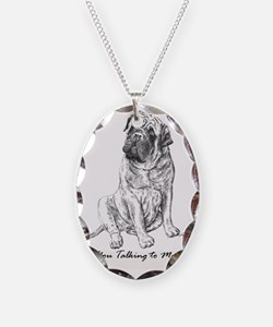 Mastiff You Talking To Me Necklace