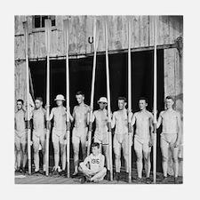 Early Yale Freshman Crew Tile Coaster