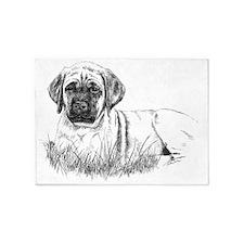 Mastiff Puppy Laying 5'x7'Area Rug