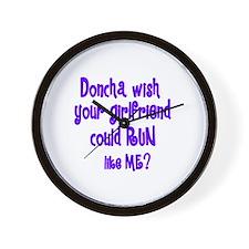 RunnerChick Doncha Wall Clock