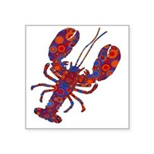 "POP LOBSTER Square Sticker 3"" x 3"""