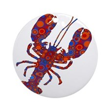 POP LOBSTER Round Ornament
