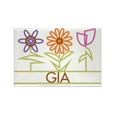 GIA-cute-flowers Rectangle Magnet