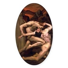 1850 Dante and Virgil in Hell Decal