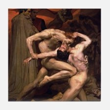1850 Dante and Virgil in Hell Tile Coaster