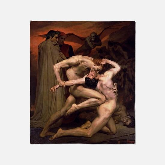 1850 Dante and Virgil in Hell Throw Blanket