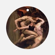 1850 Dante and Virgil in Hell Round Ornament