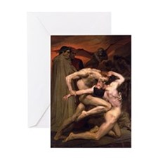 1850 Dante and Virgil in Hell Greeting Card
