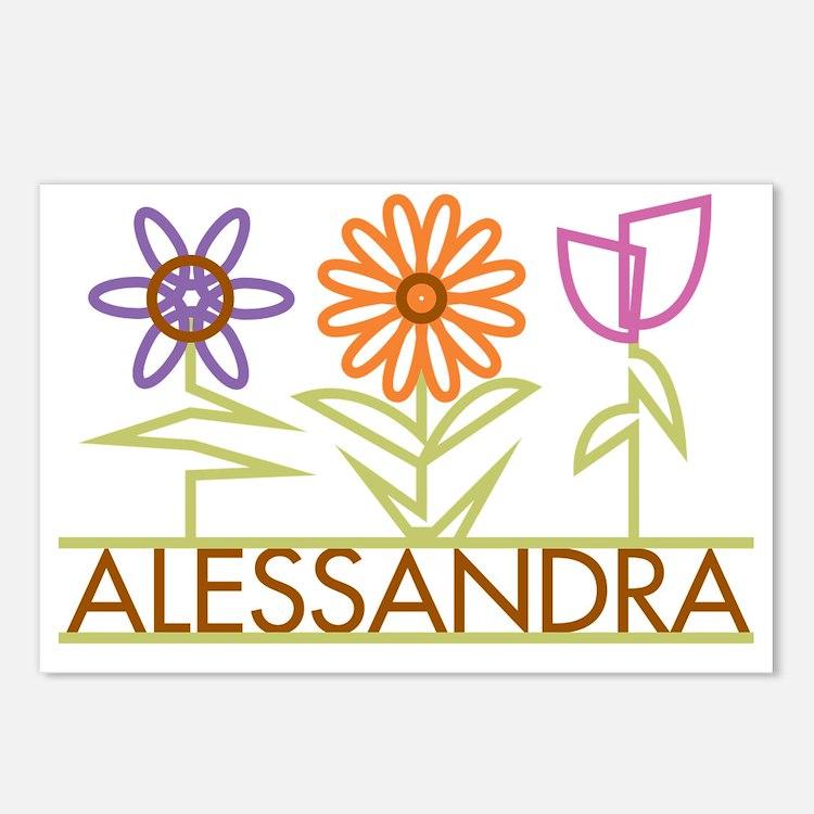 ALESSANDRA-cute-flowers Postcards (Package of 8)