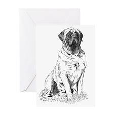 Mastiff Sitting Greeting Card