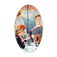Renoir Boating K/N Oval Car Magnet
