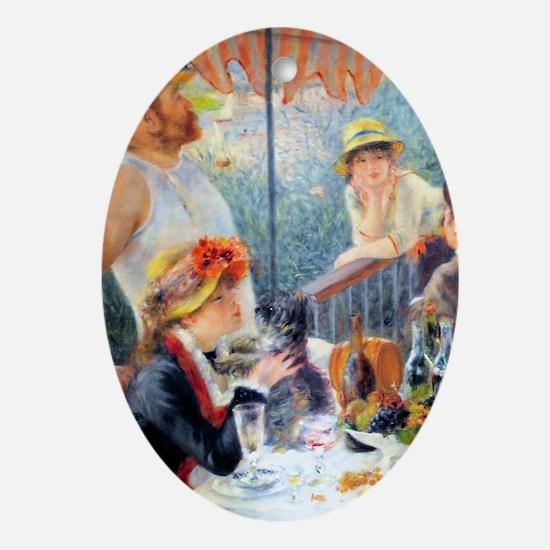 Renoir Boating K/N Oval Ornament