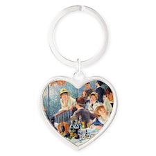 Renoir Boating RMag Heart Keychain