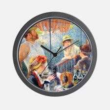 Renoir Boating Button2 Wall Clock