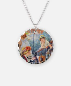Renoir Boating Button2 Necklace
