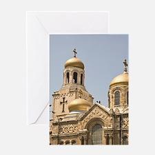 Downtown Varna, Bulgaria, Eastern Eu Greeting Card