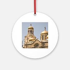 Downtown Varna, Bulgaria, Eastern E Round Ornament