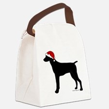 GSPBlackSanta Canvas Lunch Bag