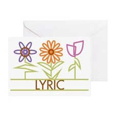 LYRIC-cute-flowers Greeting Card
