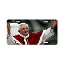 pope_benedict_xviLG Aluminum License Plate