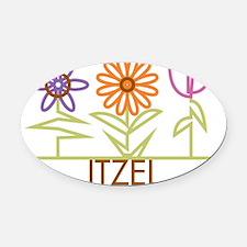 ITZEL-cute-flowers Oval Car Magnet