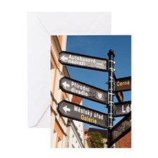 City of Loket. A street sign in old  Greeting Card