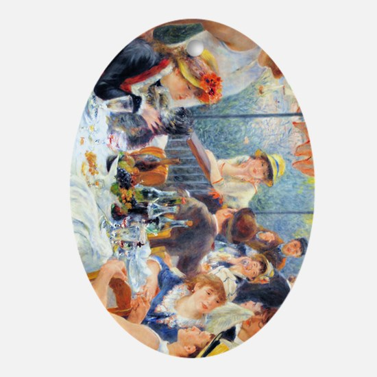 443 Renoir Boating Oval Ornament