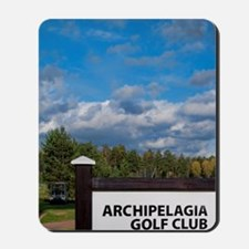 Sign for great golfing at Archipelagia G Mousepad