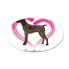 GSPColorHeart Oval Car Magnet